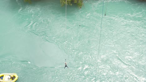 Man-Bungee-Jumping-Over-River