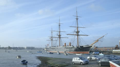 Wide-Shot-of-Old-Ship