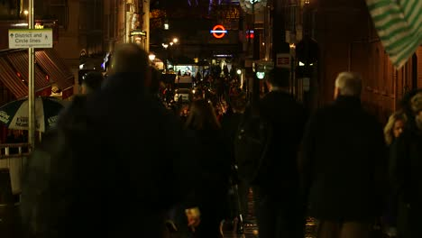 People-Walking-Along-London-Street