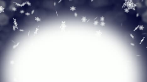 Snow-Flakes-on-Dark-Blue-Background-Loop