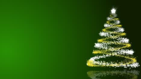 Christmas Tree Backgrounds.Christmas Tree On Green Background Loop Free Motion Graphics