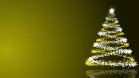 Christmas-Tree-on-Gold-Background-Loop