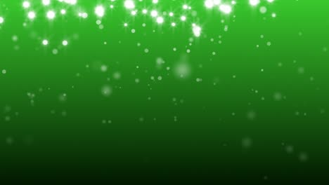White-Sparkles-on-Green-Background-Loop