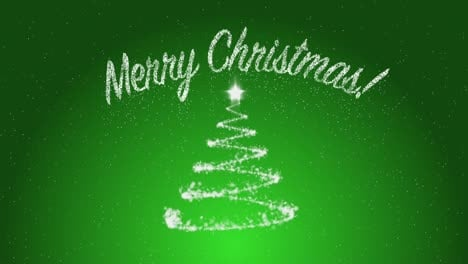 Merry-Christmas-on-Green-Background