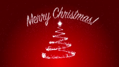 Merry-Christmas-on-Red-Background