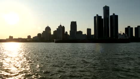 Ship-Passing-Downtown-Detroit-Skyline