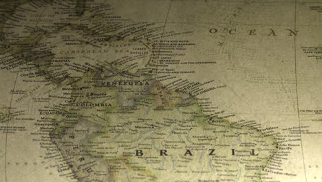 Vintage-Map-Pan-Across-to-Venezuela