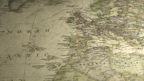 Panning-Across-a-Vintage-Map-to-Europe