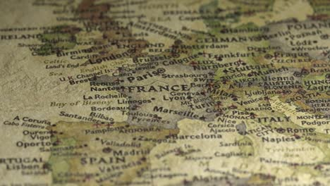Panning-Across-France-on-a-Vintage-Map