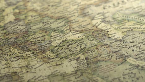 Panning-on-a-Vintage-Map-Across-to-Turkey