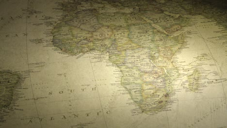Panning-on-a-Vintage-Map-Across-to-Africa