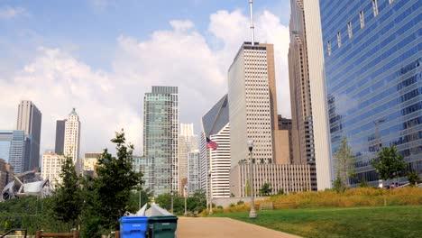 USA-Flag-Flying-in-Chicago