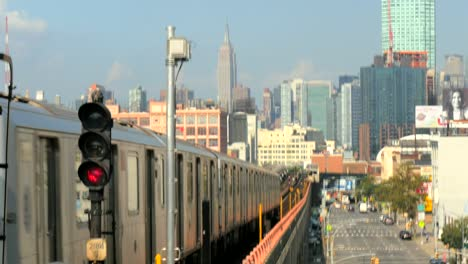 New-York-Train-Pulling-Away-From-Station
