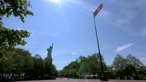 USA-Flag-Flying-on-Liberty-Island