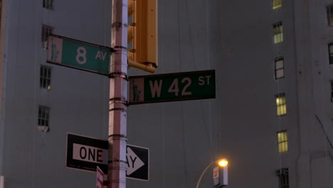 Street-Sign-Flashing-in-Light-New-York
