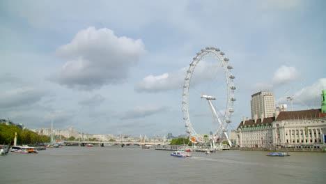 Boat-Passing-The-London-Eye