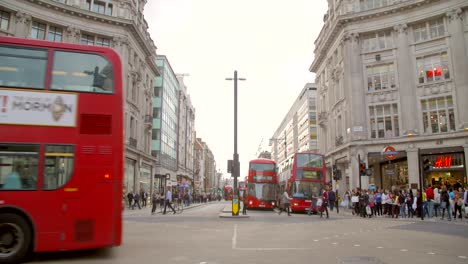 Red-London-Busses-Passing-Through-Oxford-Circus