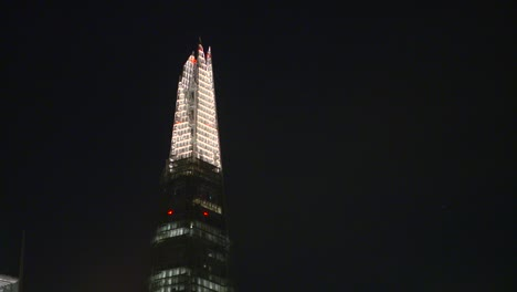 Close-Up-of-The-Shard-at-Night