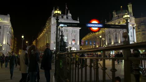 Piccadilly-Circus-Underground-Station-at-Night