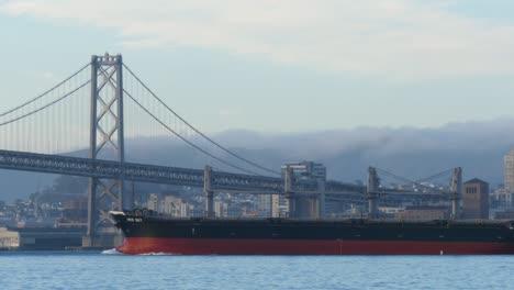 Cargo-Ship-Passing-Under-San-Francisco-Bridge