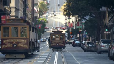Trams-Moving-Down-California-Street-San-Francisco