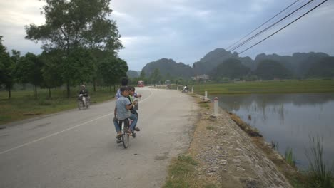 Vietnamese-Children-Riding-a-Bike