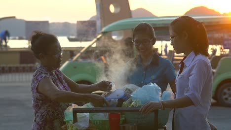 Vietnamese-Street-Vendor-Serving-Food