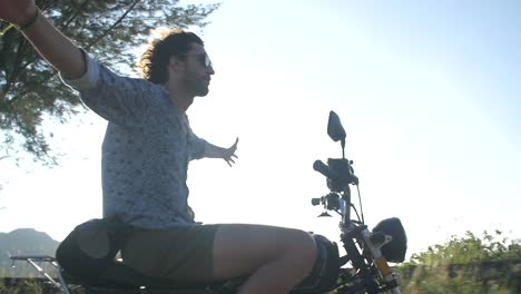 Man-Riding-on-a-Motorbike