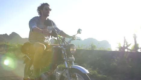 Man-Riding-on-a-Motorbike-in-Vietnam
