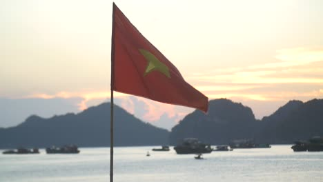 Vietnamese-Flag-Flying-at-Sunset-1