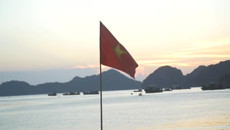 Vietnamese-Flag-Flying-at-Sunset-2