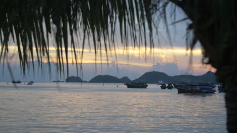 Sunset-in-Vietnamese-Harbour