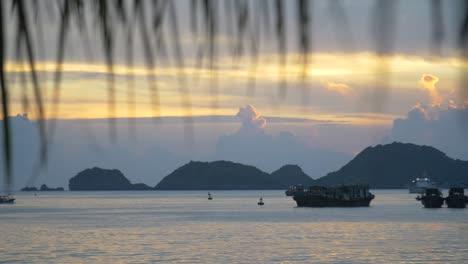 Sunset-in-Vietnamese-Harbour