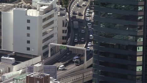 Traffic-on-Freeway-in-Tokyo