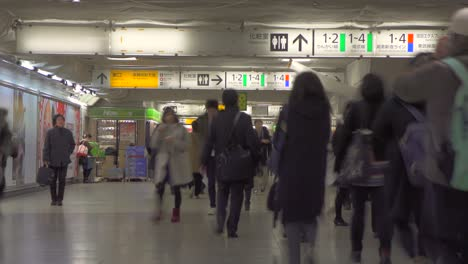 Timelapse-in-Tokyo-Metro-Station