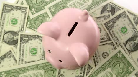 Piggy-Bank-on-Dollar-Bills-Top-View