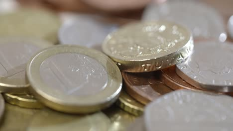 Pound-Coins-and-Euro-Coins-Rotating