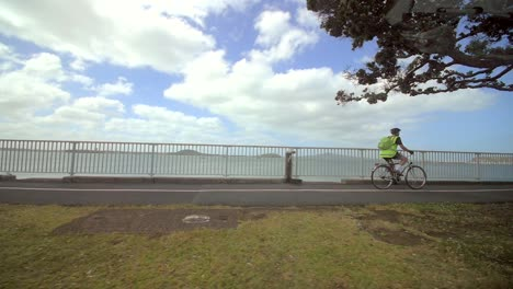Cyclists-Riding-on-Promenade