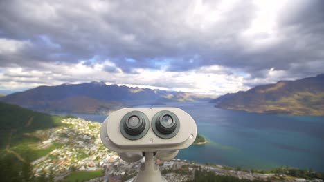 Binoculars-Overlooking-Queenstown-New-Zealand
