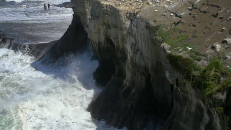 Waves-Crashing-on-Cliff