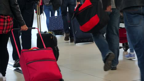 Tourists-Moving-Through-Airport-With-Luggage