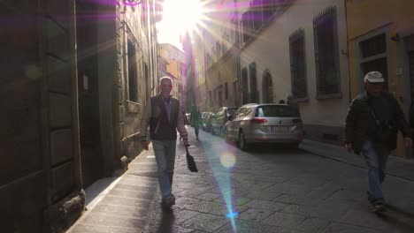 POV-Shot-Walking-Down-a-Small-Italian-Street