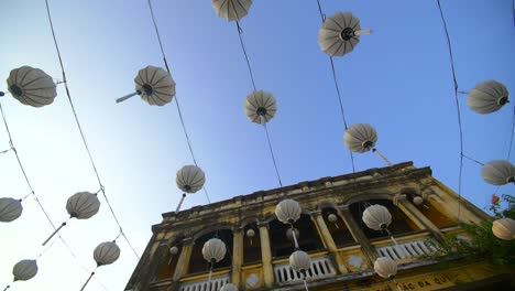 Panning-Shot-of-Traditional-Lanterns-Overhead