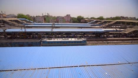Shot-of-an-Indian-Train-From-Station-Roof