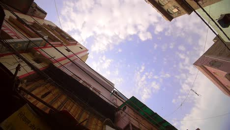 Panning-Around-Tops-of-Buildings-on-Indian-Street