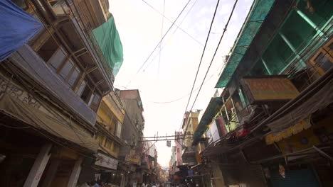Slow-Motion-Shot-of-a-Delhi-Street
