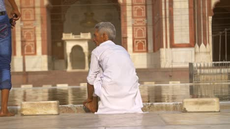 Man-Cleaning-at-Indian-Temple