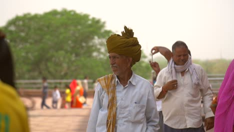 Elderly-Indian-Man-Scratching-Nose