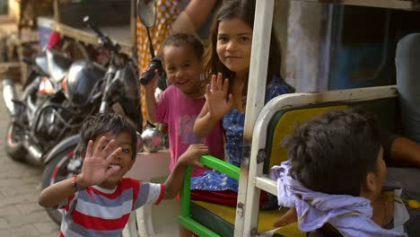 Indian-Children-Waving-