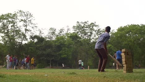 Children-Playing-Cricket